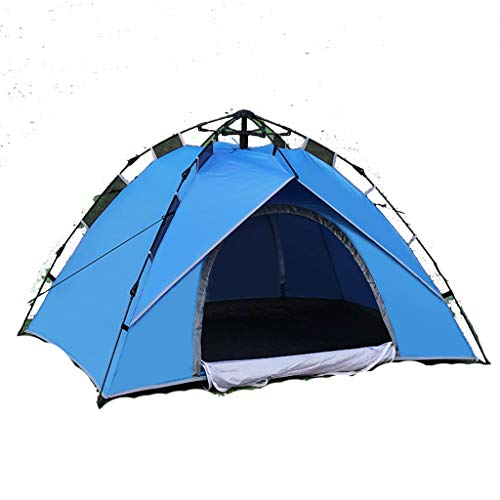 ZHJ Quickly Open Automatic 2-3 Person Tent Mountain Camping Couple Tent Waterproof Windproof Shed Frame Tents (Color : B)