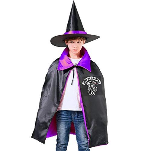 NUJSHF Sons of Anarchy Unisex Kinder Kapuzenumhang Umhang Umhang Umhang Umhang Umhang Umhang Halloween Party Dekoration Rolle Cosplay Kostüme Outwear