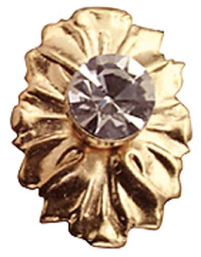 Boutons de porte médaillon cristal & or miniature maison de poupée X2