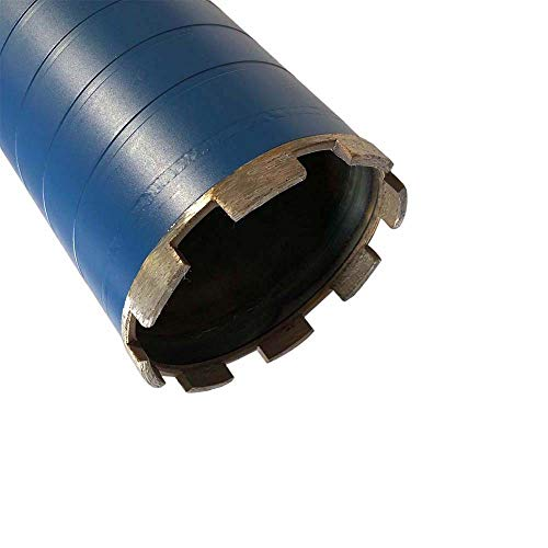 "Dry Drill Core Bits for Brick, Concrete Block, Masonry - 4"" Diameter 5/8""-11 Threaded #30/40 Diamond Grit"