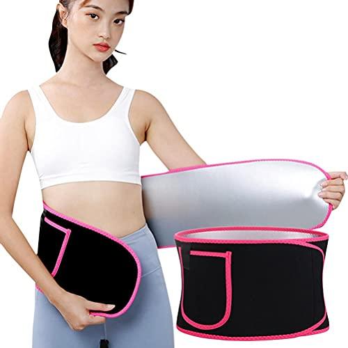 JSSEVN Faja reductora para sudar y adelgazar, cinturón de fitness, deporte, para pérdida de peso, para hombre y mujer