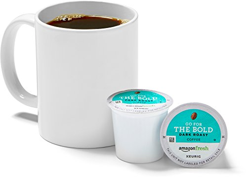 AmazonFresh 80 Ct. K-Cups, Go For the Bold Dark Roast, Keurig K-Cup Brewer Compatible