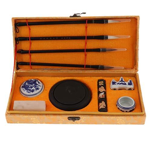 IPOTCH Chinesische Kalligraphie Pinsel Stifte Set Schreibwerkzeuge