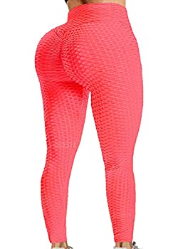 A AGROSTE Girls High Waist Yoga Pants Tummy Control Workout Ruched Butt Lifting Stretchy Leggings Textured Booty Tights