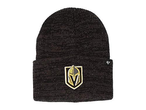 '47 Brand Brain Freeze Fashion Cuff Beanie Mütze – NHL Premium Cuffed Winter Knit Toque Cap, Herren, Las Vegas Golden Knights, Einheitsgröße