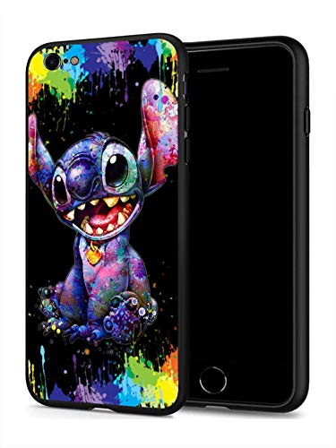 iPhone 7 Case iPhone 8 Case Anime Comic Series Protection Cover Back Case for iPhone 7 8 (Stitch-Colorful)