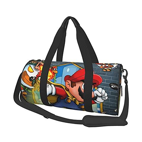 Super Mario World - Bolsa de viaje unisex para ir al gimnasio, deportes, entrenamiento de compras