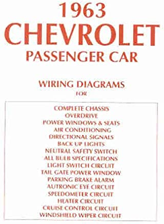 amazon com wiring diagram 1963 bel air wagon books 1963 Chevy Bel Air Dash Boards