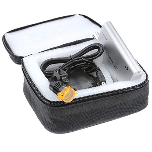 TopSeller歯科 ヘッドライト LEDヘッドライト 双眼ルーペメガネ専用 サージカルルーペ用 3W フィルター付き 装着便利 収納ボックス付き (銀)