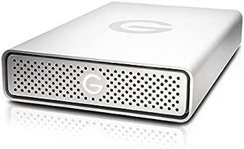 G-Technology 6TB G-DRIVE USB 3.0 Desktop External Hard Drive, Silver - Compact, High-Performance Storage - 0G03674