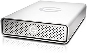 G-Technology 4TB G-DRIVE USB 3.0 Desktop External Hard Drive, Silver - Compact, High-Performance Storage - 0G03594