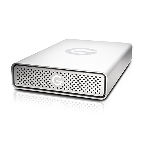 G-Technology 6TB G-DRIVE USB 3.0 Desktop External Hard Drive, Silver - Compact, High-Performance Storage - 0G03674