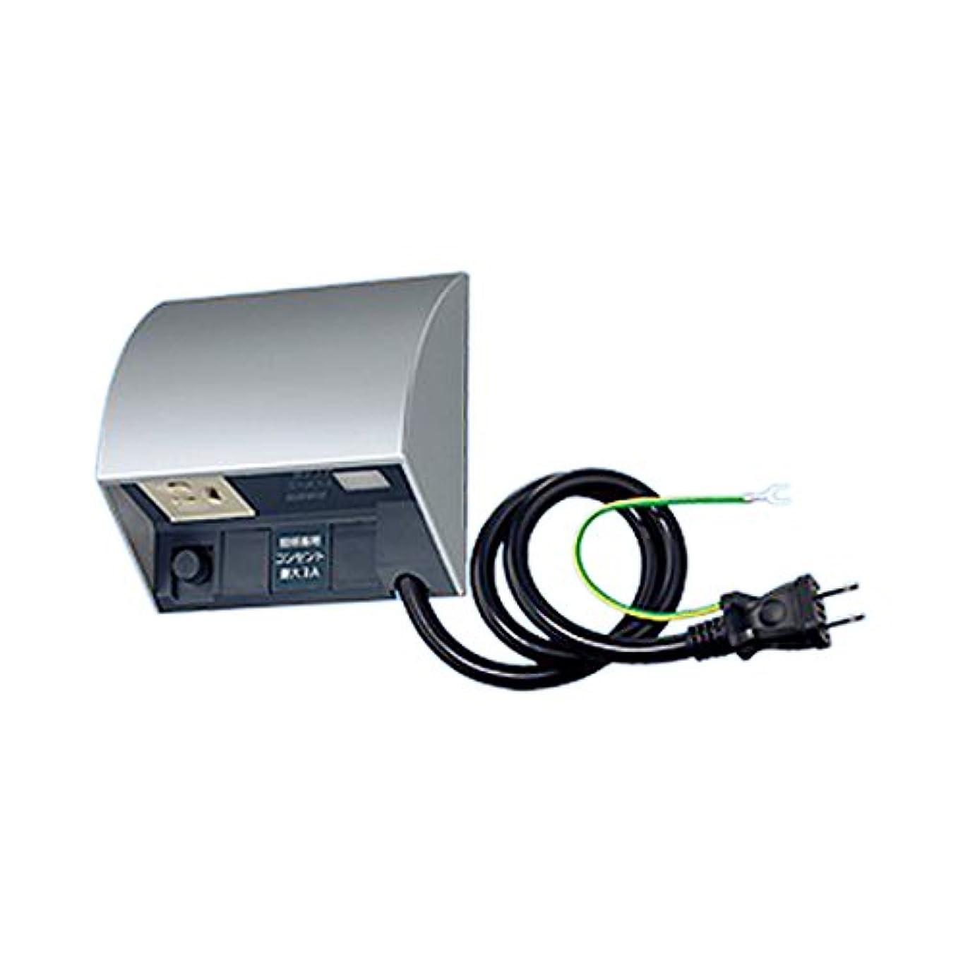 韓国語特殊オークパナソニック(Panasonic) スマート電子EEスイッチ付フル接地防水コンセント 0.5Mコード付 ホワイトシルバー EE45534S