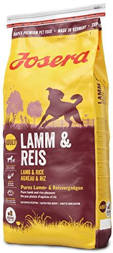 JOSERA Lamm & Reis (1 x 15 kg) | Hundefutter mit Lamm als einziger, tierischer Eiweißquelle | Super Premium Trockenfutter für ausgewachsene Hunde | 1er Pack