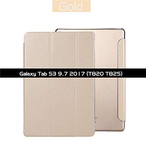 Smart Case para Samsung Galaxy Tab S3 9.7 SM-T820 T825 Smart Cover Car Wake Sleep Slim Light Flip Folio Cover Stand Shell Case-SM-T820 SM-T825