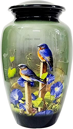 """hlc URNS Lovely Humming Bird Adult Cremation Urn for Human Ashes - Adult Funeral Urn Handcrafted - Affordable Urn for Ashes (Adult (200 lbs) – 10.5 x 6 """",Lovely Humming Bird Cremation Urn)"""