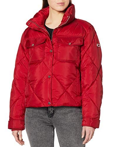 Tommy Jeans – Chaqueta acolchada para mujer rojo S
