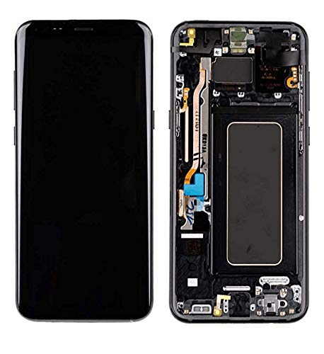 Compatible with Galaxy S8+ Plus G955F G955A G955P G955V G955T G955R4 LCD Touch Screen Display with Frame+ Tools (Black)