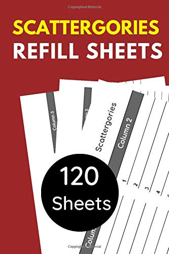 Scattergories Refill Sheets: 120 Sheets in Compact Size 6 x 9 inches