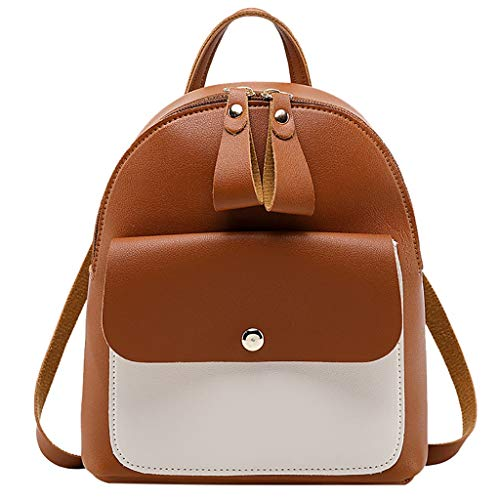 Small Backpack Deals, Fashion Lady Shoulders Synthetic Leather Bag Small Capacity Purse Mobile Phone Messenger Bag