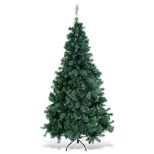 COSTWAY Árbol de Navidad Artificial de PVC con Soporte para día Festivo en...