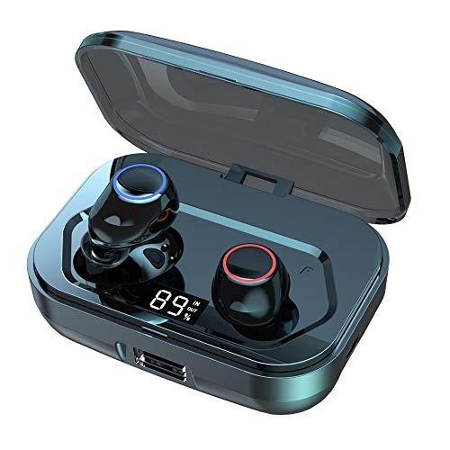 KIYEDAM Auriculares inalámbricos Bluetooth en el oído con CVC8.0 Cancelación de ruido, 3500mAh estuche de carga 140H Tiempo de reproducción Auriculares inalámbricos para gimnasio/correr/deporte