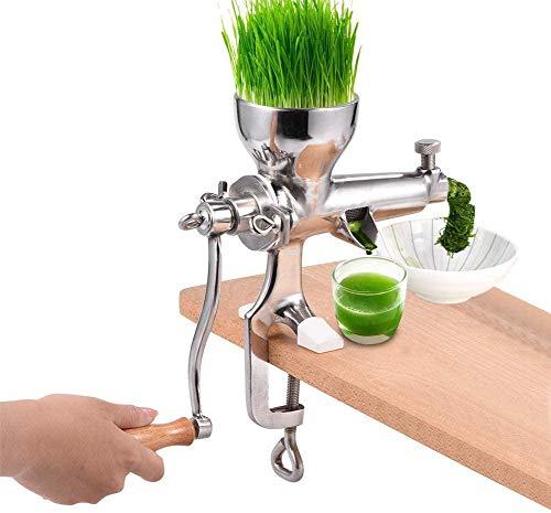 Weizengras Saftpresse Squeezer Obst Gemüse Entsafter 304 Edelstahl für Obst und Gemüse Weizen Samen Ingwer Granatapfel, Leicht zu Reinigen