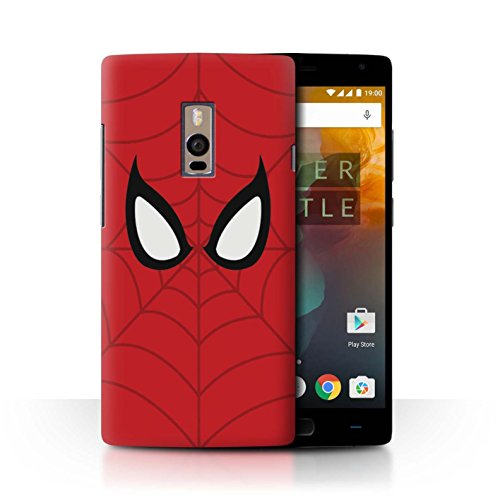 Hülle Für OnePlus 2/Two Superheld Comic-Kunst Spider-Man Maske Inspiriert Design Transparent Ultra Dünn Klar Hart Schutz Handyhülle Case