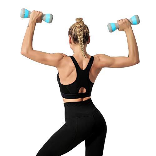 Rayline Bell-Woman hantel 2er 2kgSet Gewichte Krafttraining-Fitness-Bodybuilding-Gymnastik-Aerobic