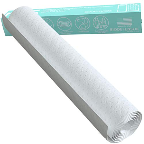 MERV 16 Filter Material Roll - Made in USA - Breathable Non-woven Polyester Polycarbonate - 95 Percent Efficiency - DIY Cut to Fit Face Mask Filter Inserts
