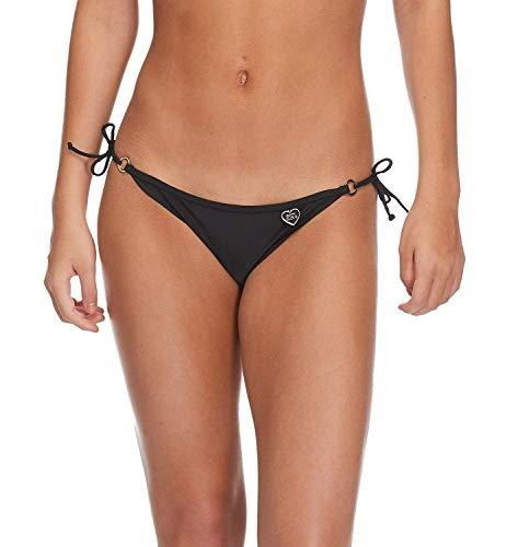 Body Glove Women's Brasilia Tie Side Cheeky Bikini Bottom Swimsuit, Smoothies Black, Medium