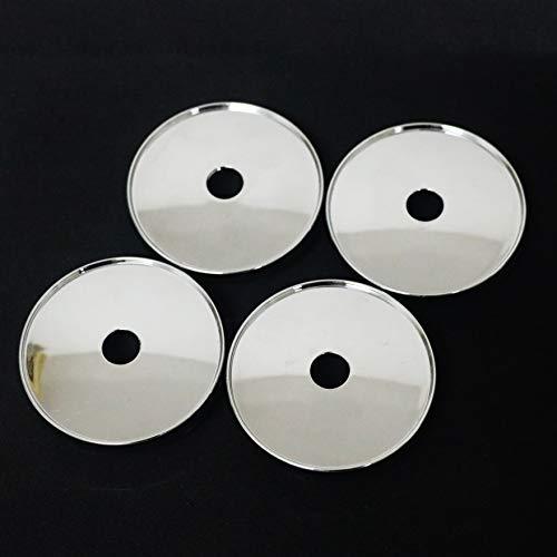 PT-Decors ABS avec revêtement chromé Universel Roues Centre hub Caps 60 mm de diamètre Taille pour véhicule Moteur Automatique de Voiture