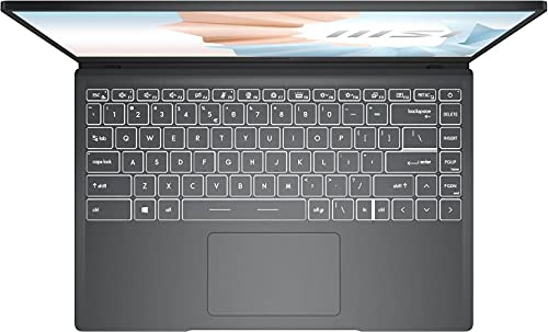 MSI Modern 14 Core i3 11th Gen - (8 GB/512 GB SSD/Windows 10 Home) Modern 14 B11MO-094IN Thin and Light Laptop (14 inch, Carbon Gray, 1.3 Kg)