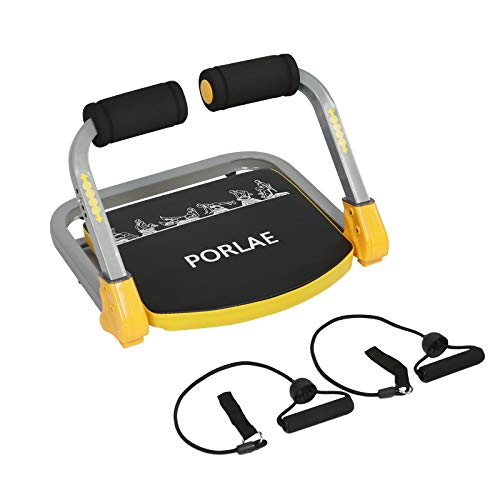 PORLAE AB Exercise Equipment AB Machine for Abs and Total Body Workout, Home Gym Compact Portable Fitness Equipment