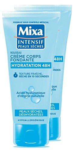 Mixa Crème pour Corps Fondante Hydratation 48H Peaux Sèches/Déshydratées 100 ml