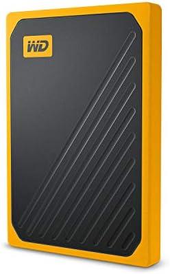 WD 500GB My Passport Go SSD Amber Portable External Storage USB 3 0 WDBMCG5000AYT WESN product image