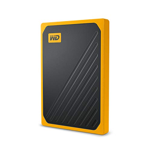 Western Digital WD My Passport Go SSD Portatile, 1 TB, Giallo/Nero (Bordo Ambra)