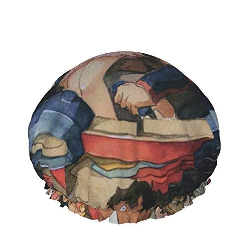 Gurren Lagann - Gorro de ducha para mujer, doble capa, impermeable, forro de Eva, diseño para mujeres y niñas, uso en el hogar, hotel y peluquería