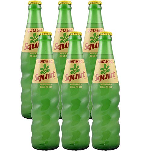 Squirt Citrus Soda, Caffeine-Free, Hecho En Mexico, Quitased, 12oz Bottle (Pack of 6, Total of 72 Fl Oz)