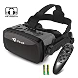 VeeR Falcon VR Headset with Controller, Eye Protection Virtual Reality Goggles to Comfortable Watch 360 Movies for Android, Samsung, Huawei and iPhone (only for 4.7-6.1inch)
