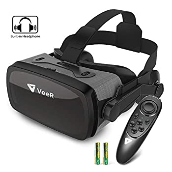 VeeR Falcon VR Headset with Controller Eye Protection Virtual Reality Goggles to Comfortable Watch 360 Movies for Android Samsung Huawei and iPhone  only for 4.7-6.0inch