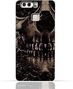 Huawei P9 Plus TPU Silicone Case With Dark Skeleton Pattern Design.