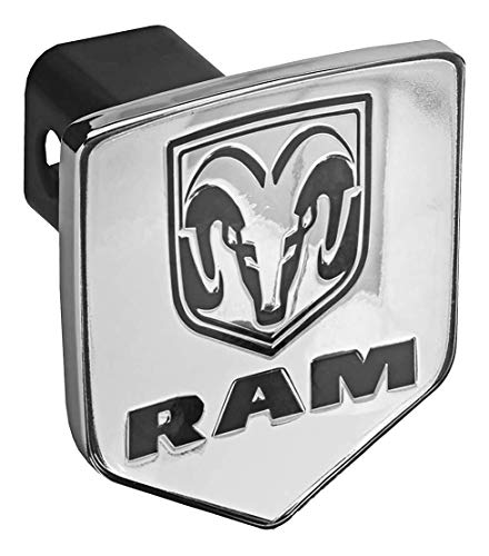 Bully CR-311 Licensed Dodge RAM Logo Truck Trailer Tow Hitch Receiver Cover Exterior Accessories fits 2 Inch Receivers and Plugs - Genuine Licensed Accessory