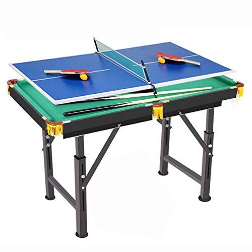 AJH Multifunktions-2-in-1-Kombi-Spieltisch, Billardtisch und Tischtennisplatte, Mini-Kompakt-Tischtennisplatte, Kinder-Indoor-Aktivitätsspielzeug