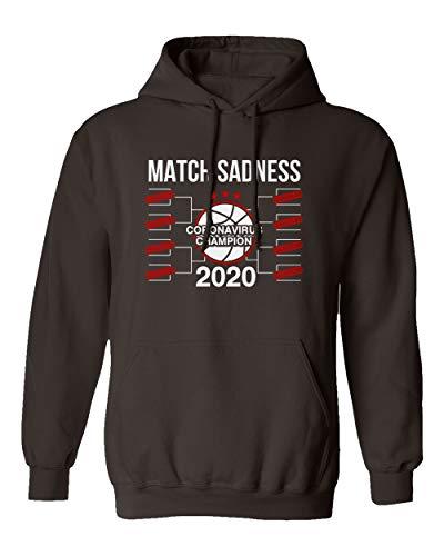 SMARTZONE Basketball Coronavirus Champ March Sadness 2020 Madness Boys Girls Youth Hooded Sweatshirt (Brown, Youth Large)