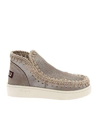 Moda De Lujo | Mou Mujer SW211000PMGEGRY Beige Cuero Zapatillas Slip-on | Primavera-Verano 21