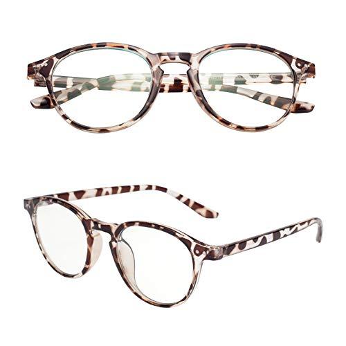 老眼鏡 ブルーライトカット ユニセックス メンズ レディース おしゃれ ボストン ケース付き 軽いリーディンググラス 度付き TR2318 C5 度数+300