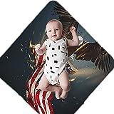 Baby Swaddle Blanket Wrap for Newborn & Infant Breathable Swaddlers Sleep Sack Swaddling Blankets for Boys Girls (Vintage American Flag Eagle Patriotic)