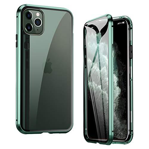 Liebecase Für iPhone 11 Pro Hülle 360 Grad Magnetisch, Dünn Metallrahmen Magnetische Adsorption Handyhülle Schutzfolie Vorne und Hinten Komplett Schutzhülle für iPhone 11 Pro 5.8