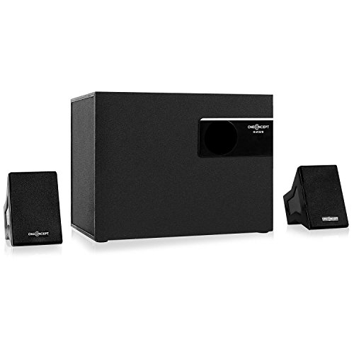 OneConcept Hi2028-2.1-Soundsystem, Lautsprecher System, PC-Lautsprecher, 20 Watt RMS Leistung, 10 cm (4